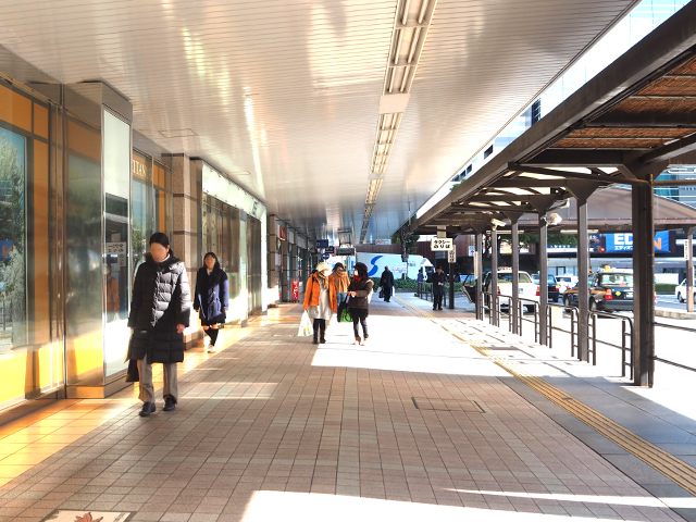 広島駅を出て左手です